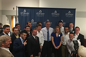 Students with Governor Bush