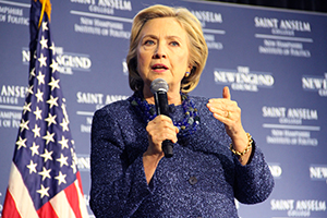 Hillary Clinton speaks at Politics and Eggs