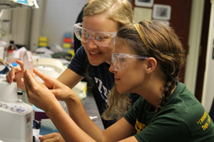 Saint Anselm students conducting research through the INBRE grant