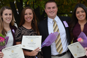 Saint Anselm nursing seniors inducted into the nursing honors society