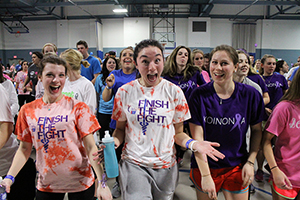 Students dance during Relay for Life