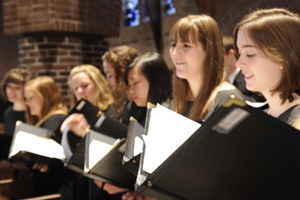 Saint Anselm College choir performs its annual December concert