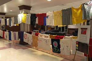 Clothesline Project was part of college's Enough is Enough campaign
