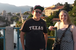 Saint Anselm students, Scott MacNeil and Kristine Adams are conducting research in Bosnia