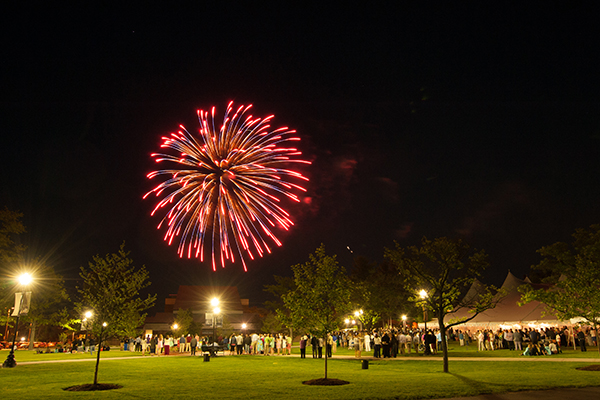 Fireworks celebrate the 125th anniversary of Saint Anselm College at Reunion 2015