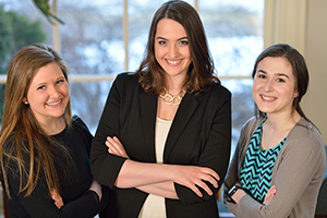 Sarah Forster '15, Mary Boyer '16, and Michaela Foley '16