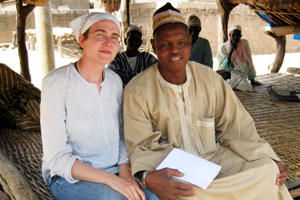 Professor Sarah Hardin in Senegal