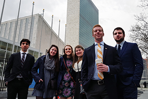 Saint Anselm College international relations club at UN Headquarters