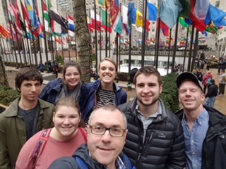 IR club students in NYC