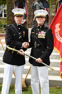 Graduate Jeffrey Boyle was commissioned into U.S. Marine Corps