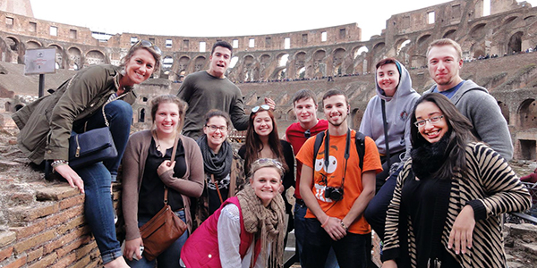 Saint Anselm students toured Rome as part of the Semester in Orvieto Italy program