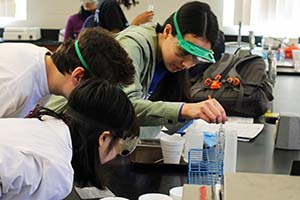 High school students at 2016 Science Olympiad at Saint Anselm College