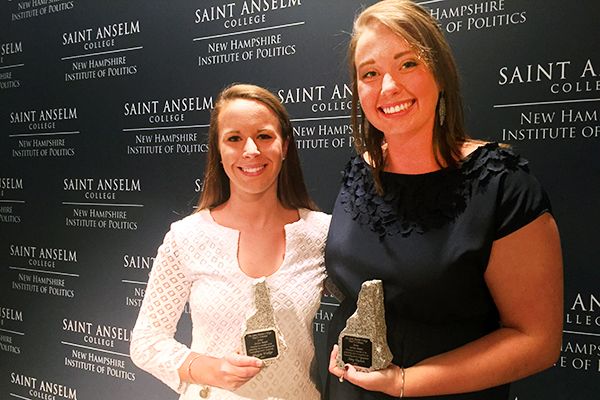 Maggie Walker and Amy Vachon, 2017 Coleman Award recipients