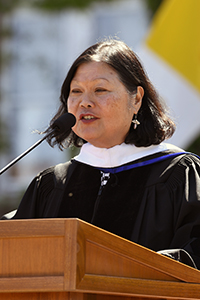Commencement address by honorary degree recipient Dr. Carolyn Y. Woo