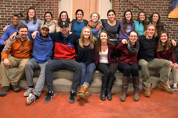 Saint Anselm College winter break service trip student-leaders