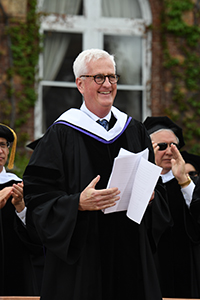 Commencement address by alumnus Michael Sheehan