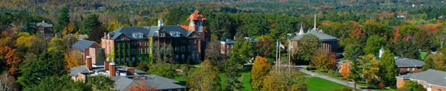 A panoramic photo of Saint Anselm College