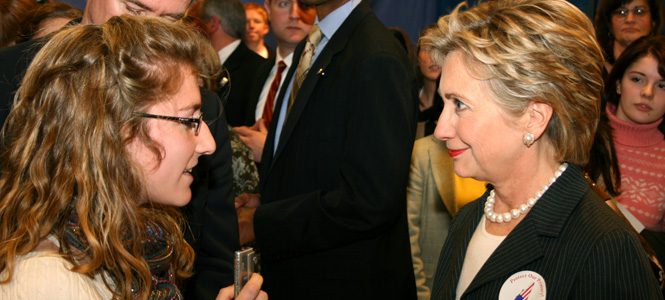 Alumna Lauren Chooljian interviewed Hilary Clinton as a student, now she works for Chicago Public Radio
