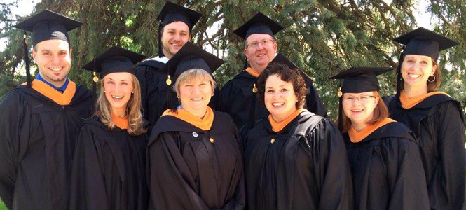 Fifteen members of Saint Anselm College's RN to BSN Program graduated in May.