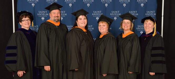 First graduates of Saint Anselm College's RN to BSN Program