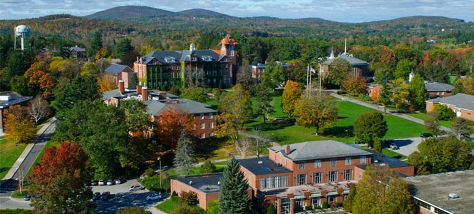 The campus of Saint Anselm College in Manchester, New Hampshire