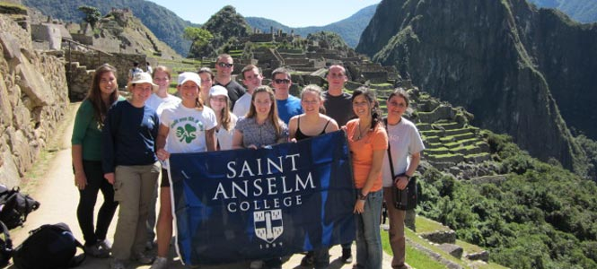 Saint Anselm students travel to various parts of the world as part of our study abroad program.