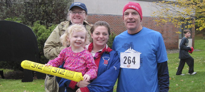 a family after participating in the Family Fun Run