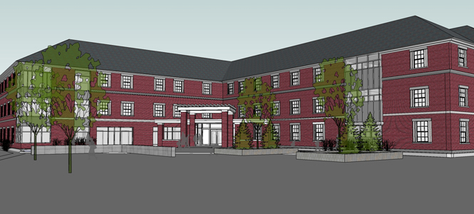 Saint Anselm College will begin construction on a new residence hall summer 2013