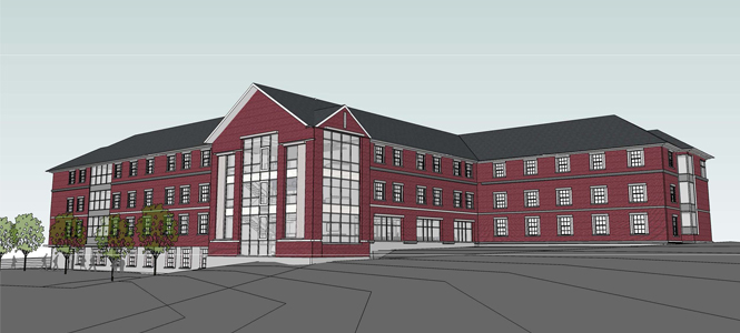 Saint Anselm College is building a new residence hall for occupancy fall 2014